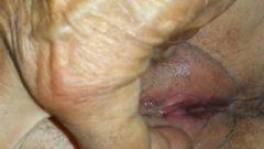 Grandpa Teasing Granny's Pussy – Closeup
