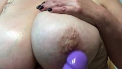 Mature Lady With Really Enormous Breasts – Close Up.