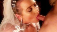 —(@ I DO @)— Passionate Wedding Night Sex Jizz Facial For Young Bride!
