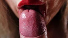 ROMANTIC RED LIPSTICK CLOSE UP POV BLOWJOB 4K 2160p