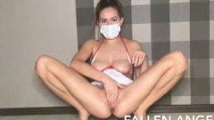 HOT NURSE IN MASK MAKES FISTING OF HER HAIRY PUSSY