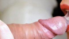 I Give A Close Up Blow-Job And Enormous Spunk In My Mouth – Sensuous Vixen Spunk Play