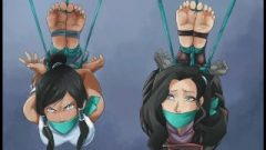 Korra And Asami Feet Close Up (try Not To Jizz While Wanking Off)