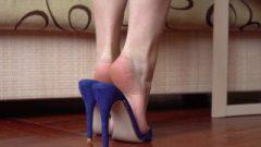 Seductive High Heels And Soles Closeup 4k Clip