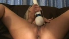 First Time Spraying Orgasms With The Wand